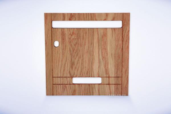Porte boites aux lettres en bois massif immeuble for Aux portes dela deco