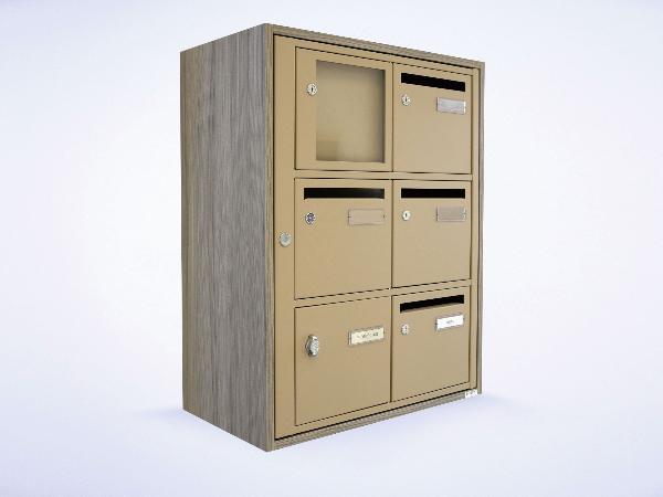 boites aux lettres collectives acier norme poste anti. Black Bedroom Furniture Sets. Home Design Ideas